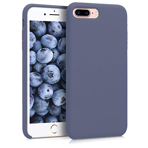 (kwmobile TPU Silicone Case for Apple iPhone 7 Plus / 8 Plus - Soft Flexible Rubber Protective Cover - Lavender)