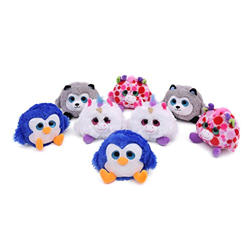 Melody House Plush Toy, Stuffed Animals Gift for Kids, Unicorn, Giraffe, Penguin & Husky Plush Set, 4 inches, 8 Pack by Melody House