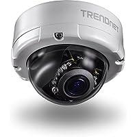 TRENDnet Indoor/Outdoor 4 Megapixel, Varifocal PoE IR Dome Network Camera, Auto-Focus, Optical Zoom, Manual Pan/Tilt, Night Visions Up to 66ft., IP66 Rated Housing, ONVIF, IPv6, TV-IP345PI