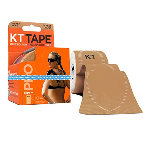 KT Tape Pro Kinesiology Therapeutic Sports Tape, 16.6 Foot Uncut Roll, Stealth Beige, Latex Free, Water Resistance, Pro & Olympic Choice