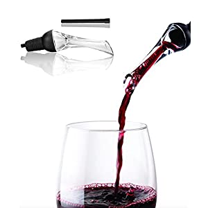 Red Wine Aerator Pourer by Root Essentials - Wine Pouring Aerator, Aerating and Decanting Your Wine Instantly