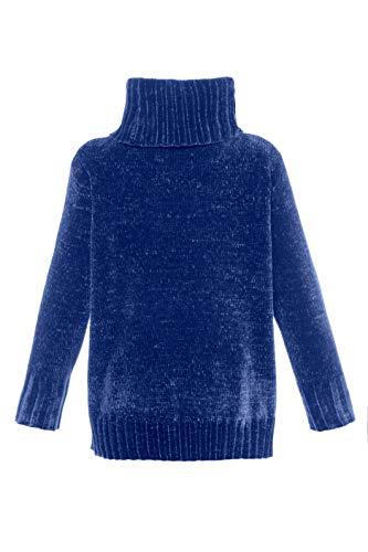 Ulla Tailles Col Femme Manches Pull Montant Ample Bleu 713480 Grandes Popken Roi Longues RqfrwntR