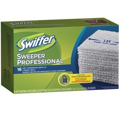Swiffer Sweeper Professional X-Large Dry Sweeping Cloths Mop and Broom Floor Cleaner Refill (Quantity of 5) by Groceries To Your Door