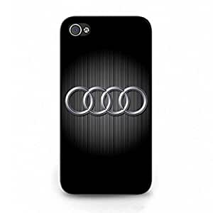 Audi Phone Funda,iPhone 4/iPhone 4S Phone Funda,Luxury Car Phone Funda,Hard Plastic Phone Funda