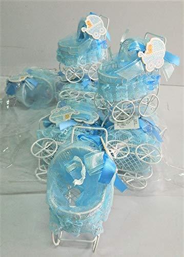 sans 12 x Boite Porte dragées Berceau Metal Bleu Bapteme Garcon Cadeaux Baptême sans indication
