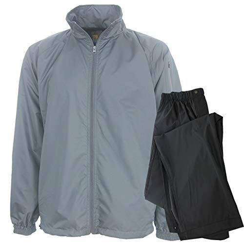 - Forrester Packable Waterproof Golf Rain Suit, X-Large Gray Jacket/Black Pants