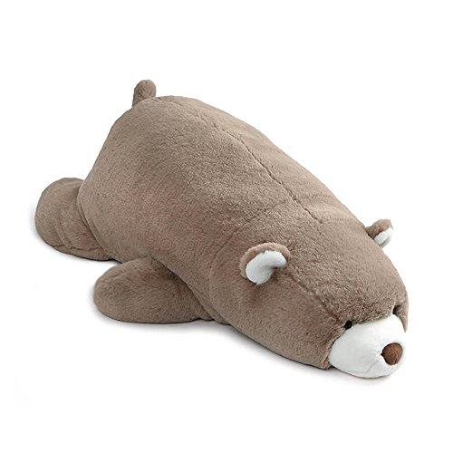 (GUND Snuffles Laying Down Teddy Bear Stuffed Animal Plush, Taupe, 27