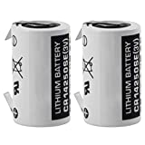 Two Exell PLC-7 w/Tabs CR14250SE 3V 1/2 AA Laser Lithium Battery Button Top Used In Numerical Control Systems Personal Computers & Other Electronics Replaces Sanyo CR12600SE CR2NP
