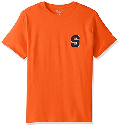 - Champion NCAA Team Tagless Cotton Short Sleeve Front/Back Graphic Tee, Syracuse Orange, Large