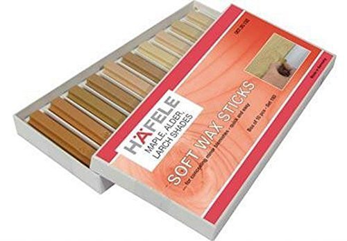 hafele-soft-wax-stick-assortment-wood-filler-pack-of-10-maple-alder-larch-colours