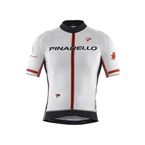 (PINARELLO/ピナレロ)(自転車用ウェア/男性用/メンズ)FRC STARS フルジップジャージ ピナホワイト S   B01EVETT1G