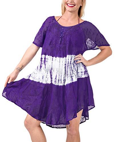 LA LEELA Mädchen Rayon Kurze Kleid Badebekleidung Strand Sonne verschleiern