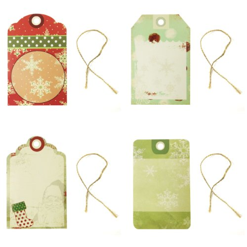 Wrapables Christmas Printing Tag for Scrapbooking, Set of 24