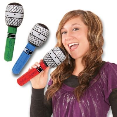 Windy City Novelties Inflatable Microphones - 10