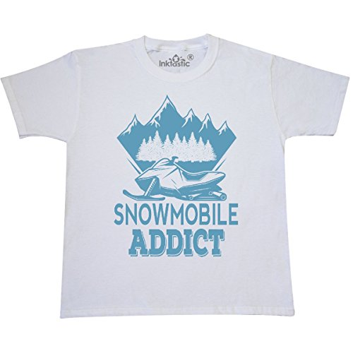 inktastic - Snowmobile Addict Youth T-Shirt Youth Small (6-8) White 2e4db