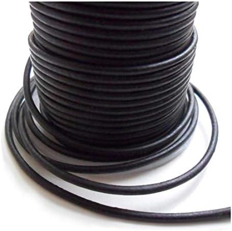AURORIS - 10m Lederband rund - Ø 3mm - matt-schwarz