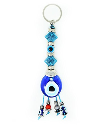 Turkish Evil Eye Protection - Evil Eye Keychain Set Women & Men Turkish Greek Key Rings Protection Lucky Charm