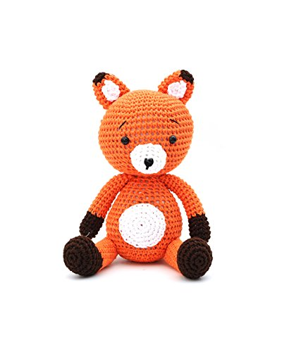 Vietsbay Tiko Fox Handmade Amigurumi Stuffed Toy Knit Crochet Doll VAC -