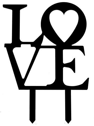 Wedding-Cake-Topper-Forever-LOVE-Black-Philadelphia-LOVE-Silhouette-Acrylic-Cake-Topper