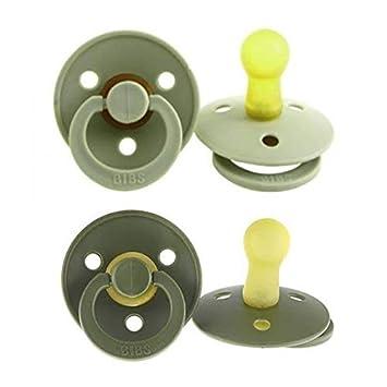 bibs chupetes de goma natural libre de BPA Sage/Hunter Green 0-6 ...