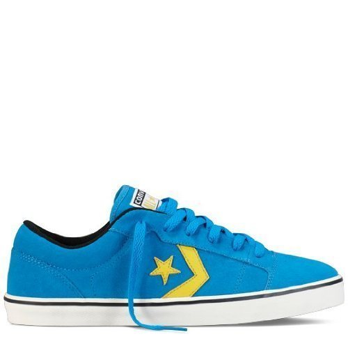 Converse Sneaker Donna BADGE II Ox Suede CLOISONNE BLU 136908c