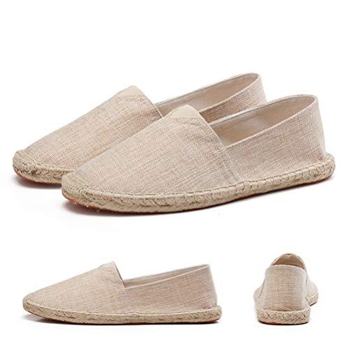 On Alpargatas Lona Primavera Hombres Transpirables Slip Zapatos Flats Abrigo Solid Cáñamo De Caqui Mocasines Y6ZZxaHqvn