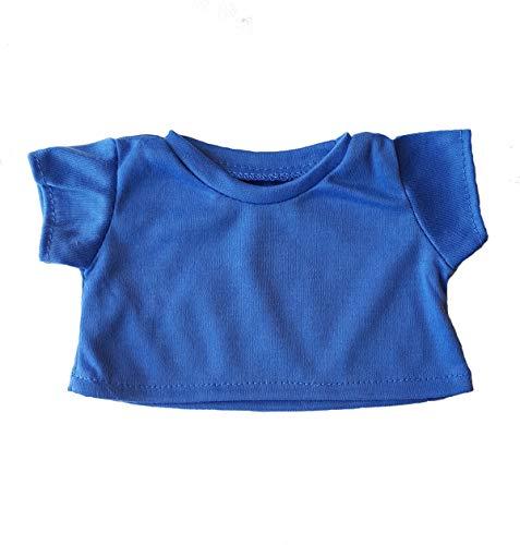 Blue Basic Tee Shirt Teddy Bear Clothes Fit 14
