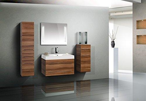 Badezimmermöbel Set mit Waschtisch 90 cm und Lichtspiegel