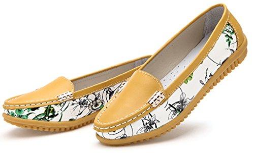 GFONE - Sandalias mujer amarillo