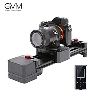 Image of GVM 11.8inches/30cm Portable Motorized Camera Slider GVM Dolly Video SlidersWith Automatic Cycle Time Lapse Macro Shooting Wide-Angle Shooting Camera Supports & Stabilizers