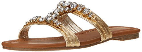 Kenneth Cole REACTION Women's Drag On Dress Sandal, Gold, 8.5 M US