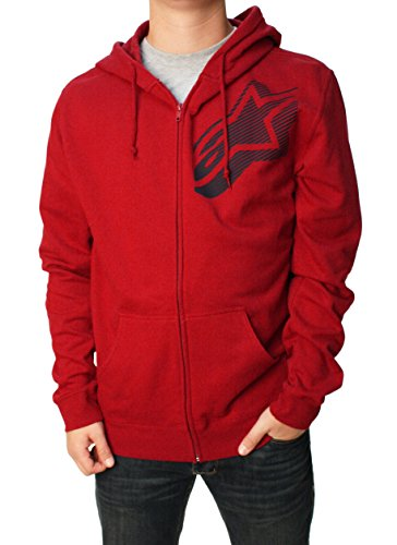 ALPINESTARS Men's Lowbrow Zip Fleece, Cardinal/White, X-Large