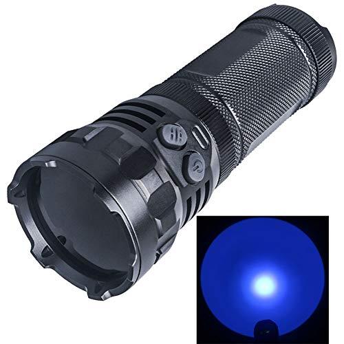 LIGHTFE UV Flashlight high-power 3 UV beads Light Identification black light UV torch 3 18650 batteries in parallel For Lamp -Spot Scorpions, Pet Urine, Counterfeit Money, Bed Bugs (LED-UV M15-365nm)