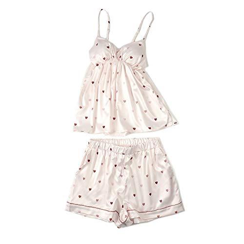 Cuore Casa Vestiti Per Pink Sexy Di Tuta Mmllse Cool La Pigiama A Pantaloncini Forma Bretelle Sottili nOXxHPw4q