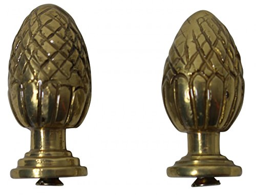 Polished Brass Stair Carpet Rod Ball Finial Pineapple Tip Pair | Renovator's Supply