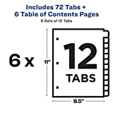 Avery Ready Index 12-Tab Binder