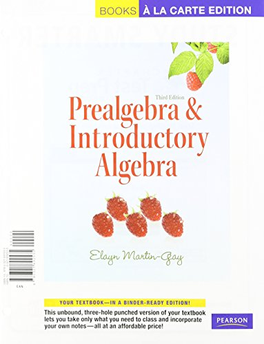 Prealgebra & Introductory Algebra, A La Carte with MML/MSL Student Access Kit (adhoc for valuepacks) (3rd Edition)