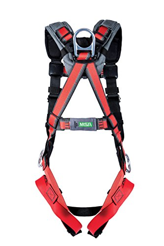MSA 10155579 Evotech Lite Line Harness with Quick-Connect Leg Strap, Back and Hip D-Ring, X-Large by MSA (Image #1)
