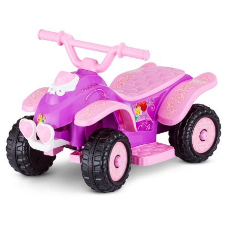 Kid Trax 6V Disney Princess Powered Wheels Quad Battery Ride on Toys for Toddler (Baby Electric Car compare prices)