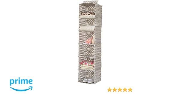 Compactor Home Zapatos Bolsa de Almacenamiento, Microfibra, Pardo y Blanco, 30 x 30 x 128 cm: Amazon.es: Hogar