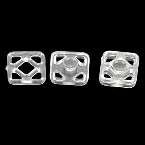 - Fujiyuan 50 7mm Pcs Plastic Press Sew-On Studs Poppers Fastener Buttons Snaps Sewing Craft DIY Clear