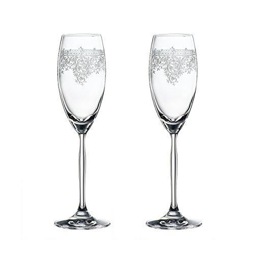 Spiegelau Renaissance Champagne Flute, 2pc Set, Champagne Flute, Prosecco Flute, Champagne Glass, Prosecco Glass, Champagne Glass, Crystal Glass, 230 ml, 4662075 ()