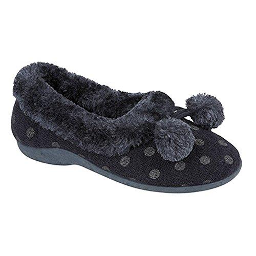 de casa Marge Sleepers abiertas estar mujer para Zapatillas por Azul modelo marino 5I7qwUH