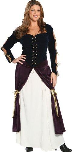 [Cinema Secrets Lady Musketeer Plus Adult Costume X-Large Black] (Women Musketeer Costumes)