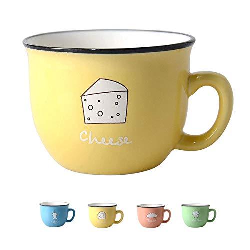 Hwagui - Best Small Yellow Ceramic Tea Cup & Coffee Mug 200ml/6.8oz ()