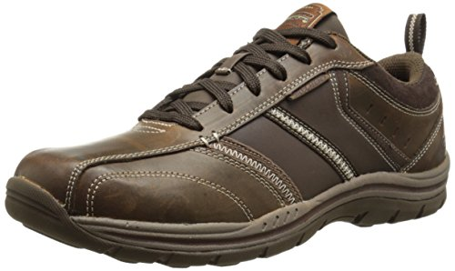 Skechers Expected Devention Oxford Da Uomo Marrone acdb