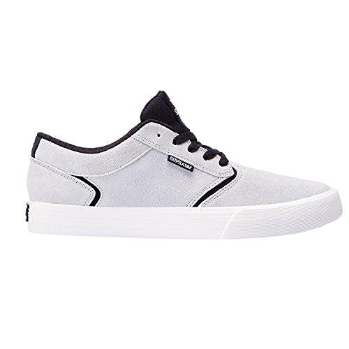 SUPRA Skateboard Shoes SHREDDER LIGHT GRAY/BLACK-BONE