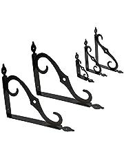 KOTARBAU plankdragers 3.maten 2 stuks staal hoekverbindingen wandconsole hoek klemmen hoekbeugel stelling ondersteuning heavy console meubelhoek 190 x 240 mm zwart