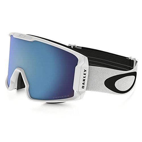 Oakley Men's Line Miner (A) Snow Goggles, Matte White, Prizm Sapphire Iridium, ()