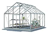 Simplicity Greenhouse LE Plain Aluminium 8x10with Toughened Glass and Metal Base